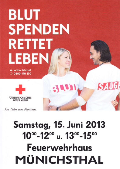 Einladung zum Blutspenden