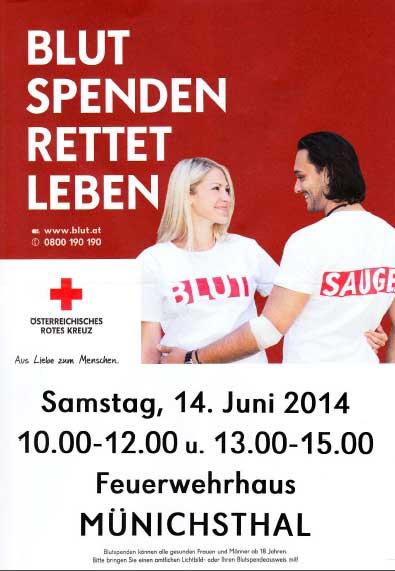 Einladung zum Blutspenden!