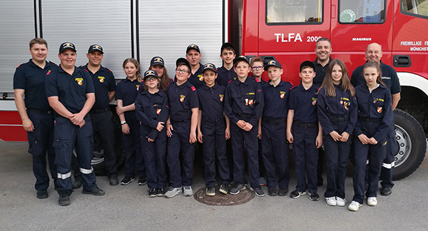 Erprobung der Feuerwehrjugend