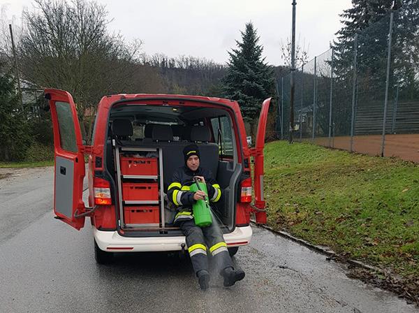Schadstoffeinsatz - Ölspur zwischen Pfösing und Wolkersdorf