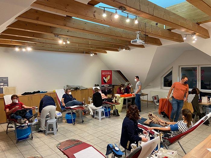 Blutspenden im Feuerwehrhaus