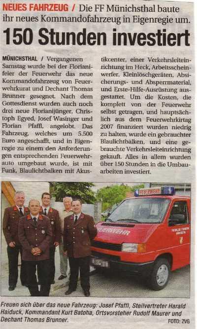 NÖN Woche 21/2008 - Fahrzeugeweihe