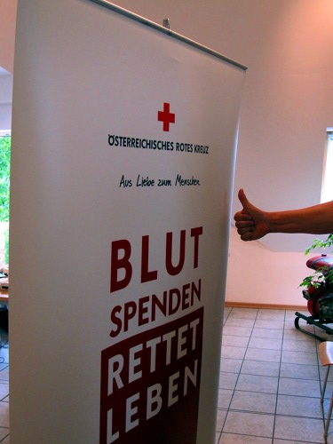Danke fürs Blutspenden!