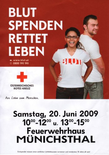 Blutspenden am 20.06.2009