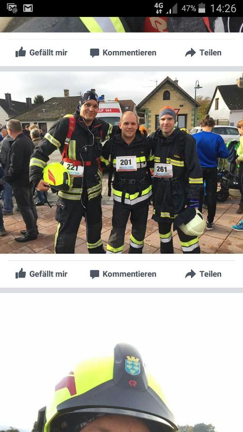 Sportliche Feuerwehrmänner