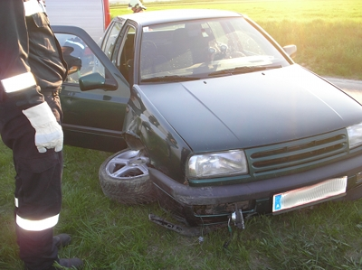 Fahrzeugbergung auf L 34 Richtung Großebersdorf