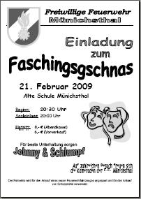 Gschnas 2009 - Einladung