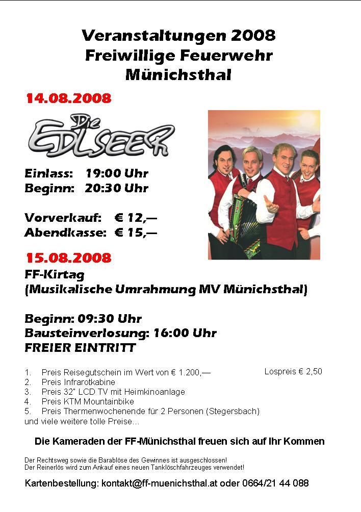 Infos +++ Die Edlseer + Kirtag +++