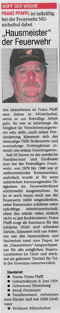 Franz Pfaffl in der NÖN