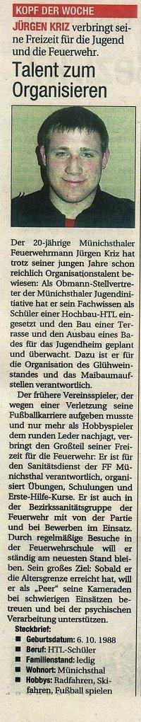 Jürgen Kriz in der NÖN