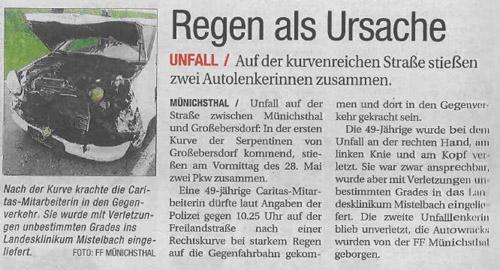 NÖN Woche 22/2011 - Bericht Unfall 28.05.2011