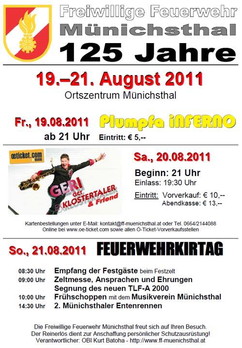 Feuerwehrkirtag 2011 - Alle Infos!!!