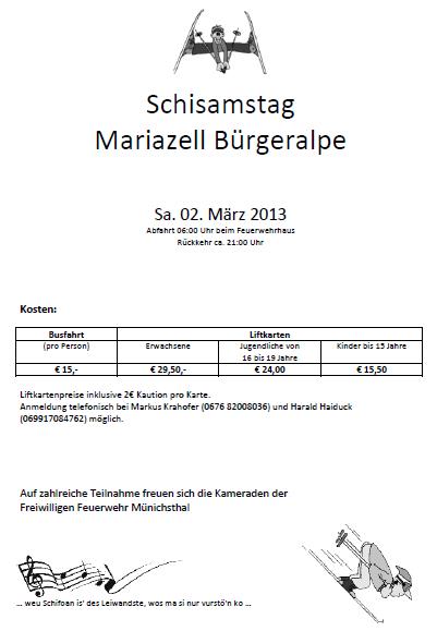 Schisamstag in Mariazell
