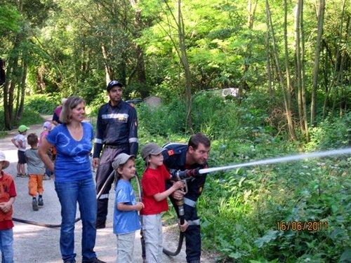 Besuch beim Waldkindergarten